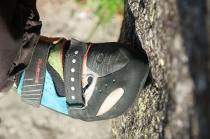Scarpa Boostic am Fels