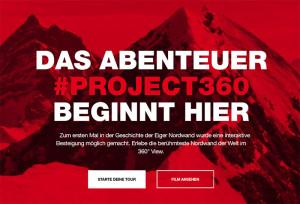 Mammut – Project360 – Die Eiger Nordwand interaktiv besteigen